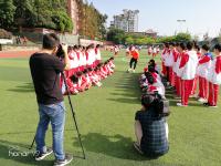 四川电视台到内江一中拍摄校园足球专题片