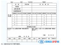 2021年广元中考志愿的样表